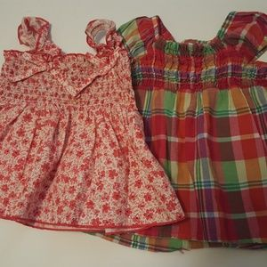 Girls 12 mos Floral and plaid summer dresses
